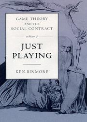 Cover of: Game Theory and the Social Contract, Vol. 2 | Ken Binmore