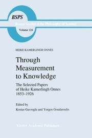 Cover of: Through measurement to knowledge