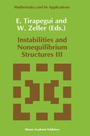 Cover of: Instabilities and Nonequilibrium Structures III (Mathematics and Its Applications) |