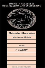 Cover of: Molecular electronics |