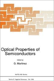 Cover of: Optical Properties of Semiconductors | G. Martinez
