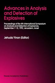 Cover of: Advances in Analysis and Detection of Explosives