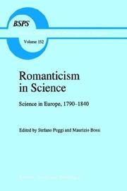 Cover of: Romanticism in science |
