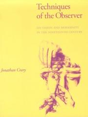Cover of: Techniques of the observer