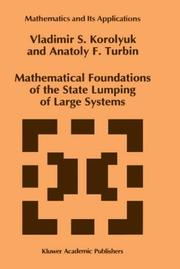 Cover of: Mathematical foundations of the state lumping of large systems