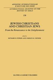 Jewish Christians and Christian Jews: by