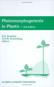 Cover of: Photomorphogenesis in Plants | R. E. Kendrick