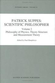 Cover of: Patrick Suppes: Scientific Philosopher: Volume 1: Probability and Probabilistic Causality Volume 2 | P. Humphreys