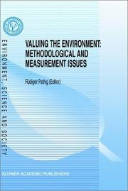 Cover of: Valuing the Environment