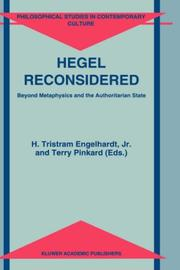 Cover of: Hegel reconsidered