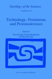 Cover of: Technology, pessimism, and postmodernism