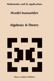 Cover of: Algebraic K-theory