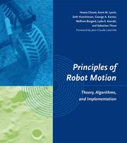 Cover of: Principles of robot motion