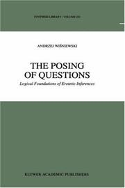Cover of: The posing of questions