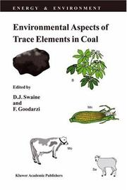 Cover of: Environmental aspects of trace elements in coal |
