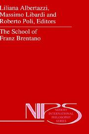 Cover of: The school of Franz Brentano |