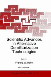 Cover of: Scientific advances in alternative demilitarization technologies