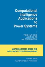 Cover of: Computational intelligence applications to power systems