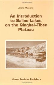 Cover of: An introduction to saline lakes on the Qinghai-Tibet Plateau