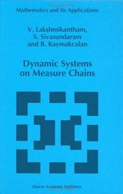Cover of: Dynamic systems on measure chains