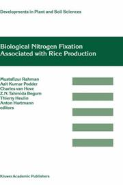 Cover of: Biological nitrogen fixation associated with rice production