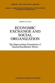 Cover of: Economic exchange and social organization