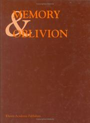 Cover of: Memory & oblivion