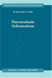Cover of: Thermoelastic deformations