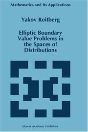 Cover of: Elliptic boundary value problems in the spaces of distributions