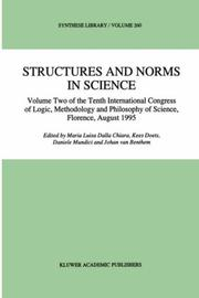 Cover of: The Tenth International Congress of Logic, Methodology, and Philosophy of Science, Florence, August 1995