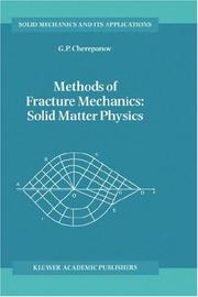 Cover of: Methods of fracture mechanics