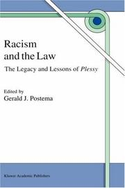 Cover of: Racism and the law |