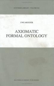 Cover of: Axiomatic Formal Ontology