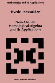 Cover of: Non-Abelian homological algebra and its applications