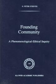 Cover of: Founding community