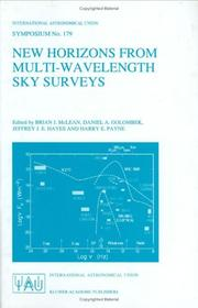 Cover of: New Horizons from Multi-Wavelength Sky Surveys (International Astronomical Union Symposia) |