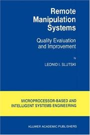 Cover of: Remote manipulation systems
