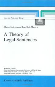 Cover of: A Theory of Legal Sentences (Law and Philosophy Library) | Manuel Atienza