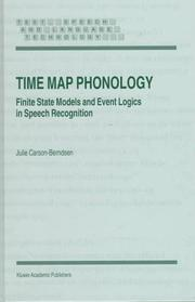 Cover of: Time map phonology