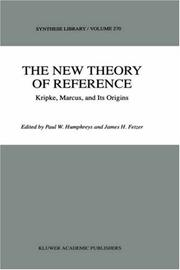 Cover of: The new theory of reference by