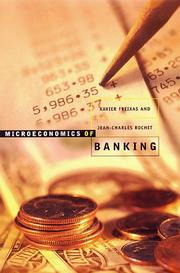 Cover of: Microeconomics of banking | Xavier Freixas
