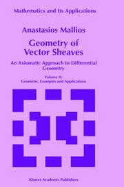 Cover of: Geometry of vector sheaves | Anastasios Mallios