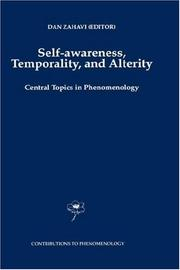 Cover of: Self-awareness, temporality, and alterity |