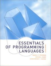 Cover of: Essentials of programming languages