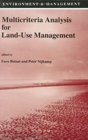 Cover of: Multicriteria analysis for land-use management