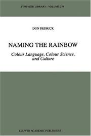Cover of: Naming the rainbow | Don Dedrick