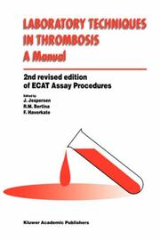 Cover of: Laboratory Techniques in Thrombosis - A Manual |