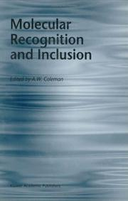 Cover of: Molecular Recognition and Inclusion | A.W. Coleman