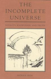 Cover of: The incomplete universe
