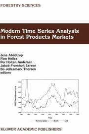 Modern Time Series Analysis in Forest Product Markets (Forestry Sciences) by